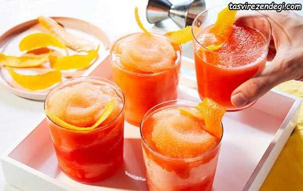 طرز تهیه یخ در بهشت پرتقال آلبالو انار
