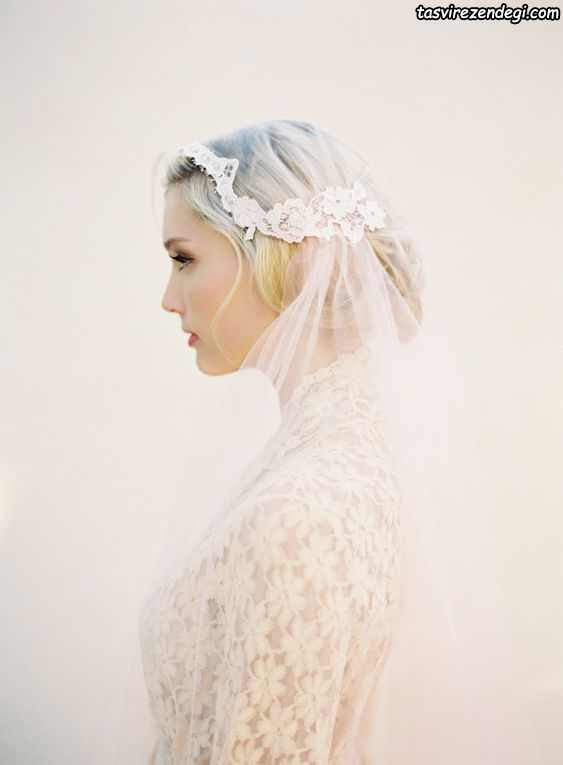 مدل تور عروس کلاه ژولیت