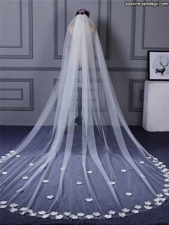 مدل تور عروس بلند سلطنتی