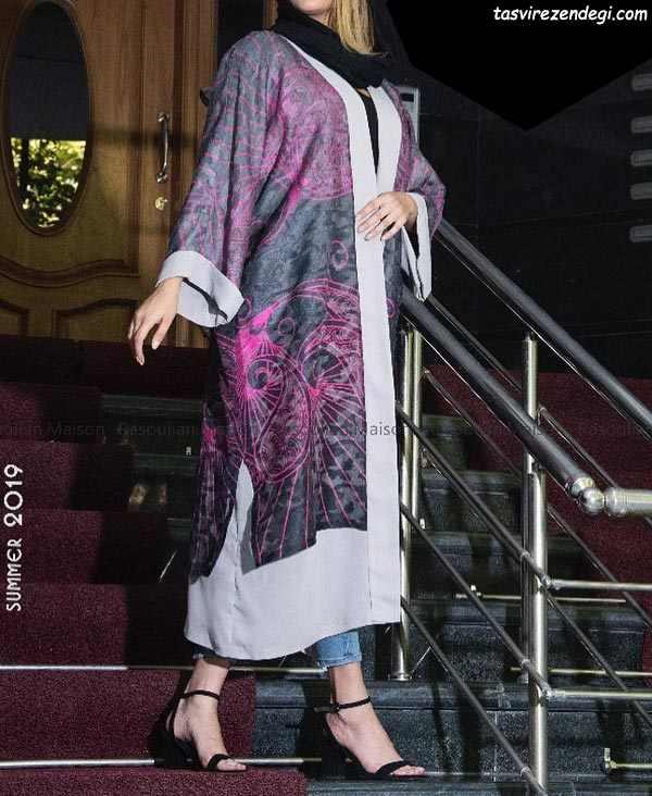 مدل مانتو تابستانی و نخی کیمونو عبایی