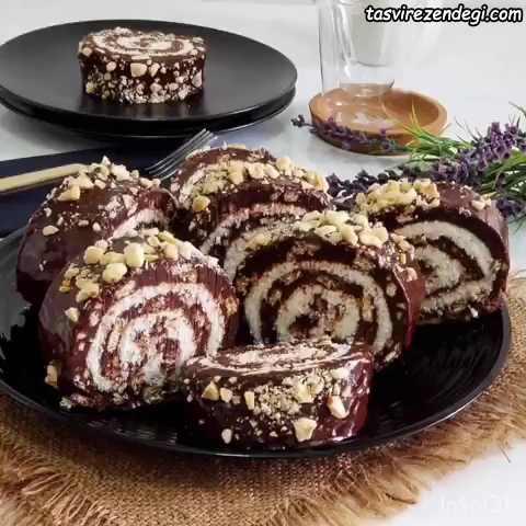 کیک کوکو استار رولی
