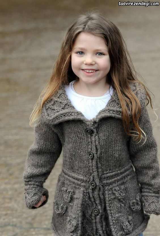 مدل پالتو بافتنی بچگانه دخترانه