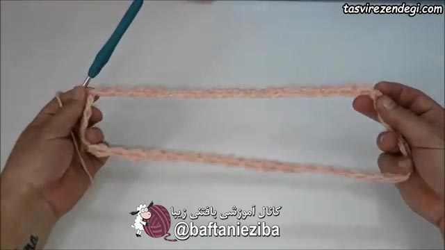 آموزش بافت شنل یقه اسکی قلاب بافی