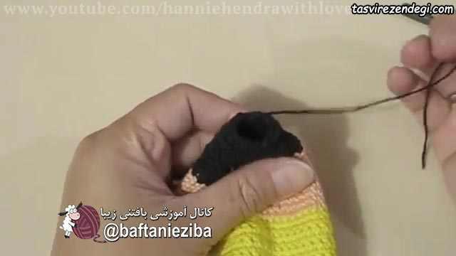 آموزش بافت جامدادی مدادی شکل قلاب بافی