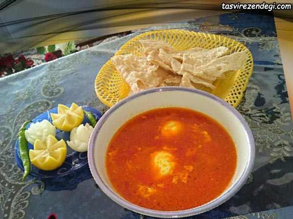 طرز تهیه اشکنه گوجه