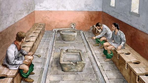 توالت عمومی در روم باستان