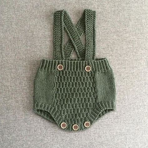 مدل رامپر بافتنی نوزادی بچگانه سبز زیتونی