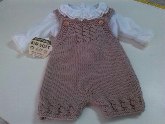مدل رامپر بافتنی نوزادی بچگانه نسکافه ای