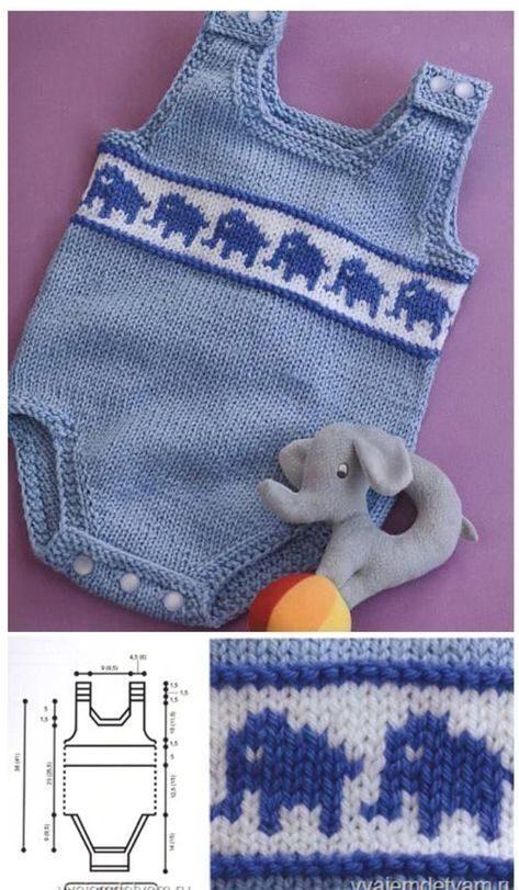 مدل رامپر بافتنی نوزادی بچگانه با الگو