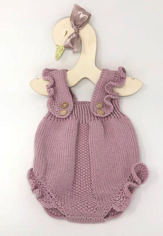 مدل رامپر بافتنی نوزادی بچگانه دخترانه