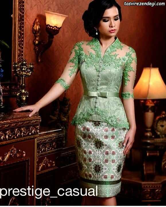 مدل بلوز دانتل مجلسی سبز روشن