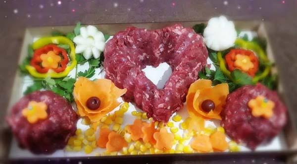 تزیین گوشت چرخ شده یخچال عروس
