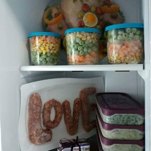دیزاین تزیین مواد غذایی یخچال
