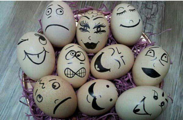 تزیین تخم مرغ یخچال عروس