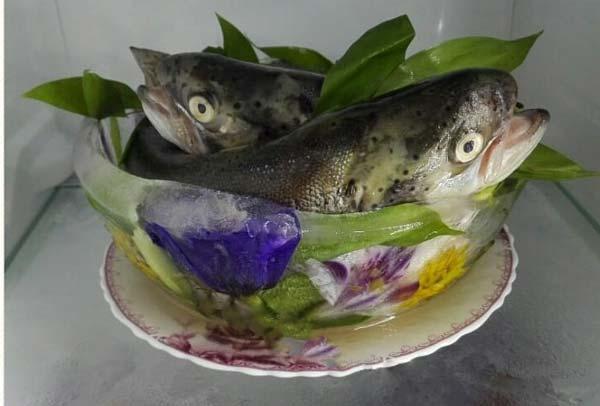 تزیین ماهی یخچال عروس