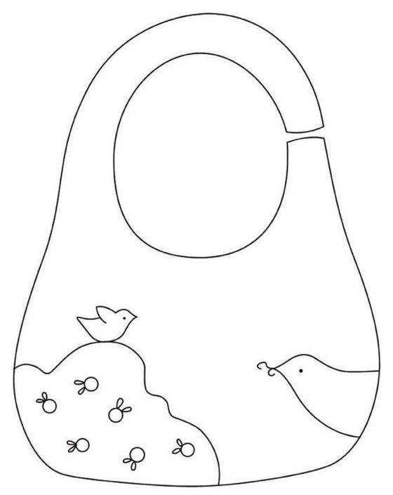 الگوی دوخت پیشبند نوزاد