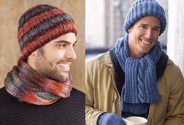 شال و کلاه مردانه بافتنی