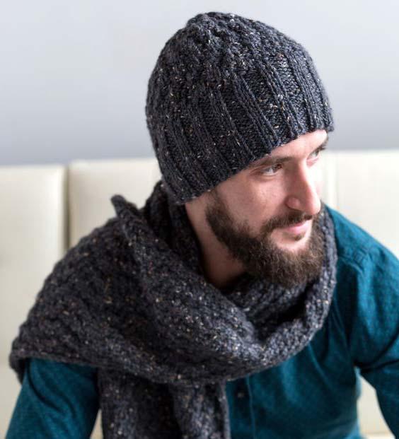 شال کلاه مردانه خاکستری تیره