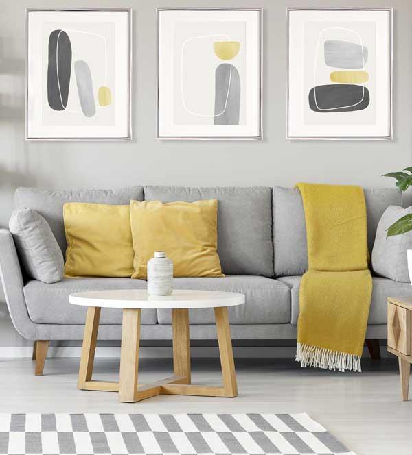 دکوراسیون زرد خاکستری رنگ سال 2021