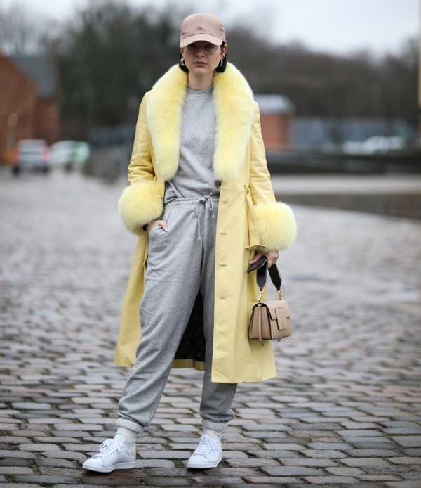مدل لباس زرد و خاکستری رنگ سال 2021
