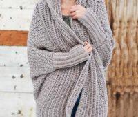 آموزش بافت ژاکت بلند زنانه قلاب بافی