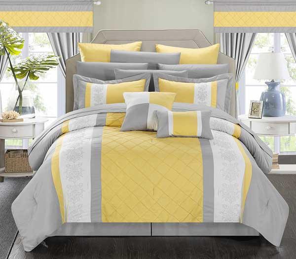سرویس خواب زرد خاکستری رنگ سال 2021