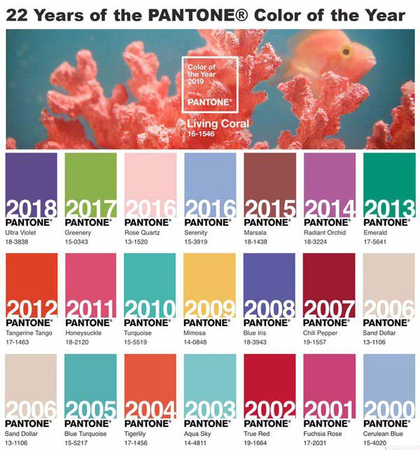 رنگ های سال