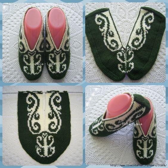 کفش روفرشی زنانه قلاب بافی تونسی