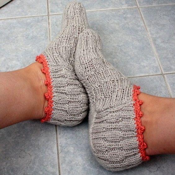 کفش بافتنی طوسی زنانه