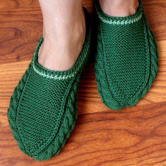 مدل کفش روفرشی بافتنی دو میل زنانه سبز