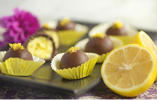 ترافل لیمویی شکلاتی