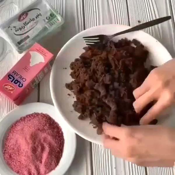 خرد کردن کیک