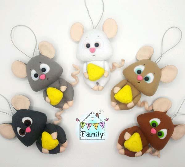 موش نمدی به رنگ های مختلف
