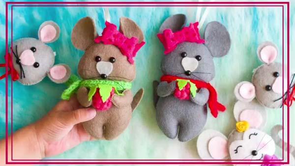 فیلم آموزش دوخت عروسک موش نمدی