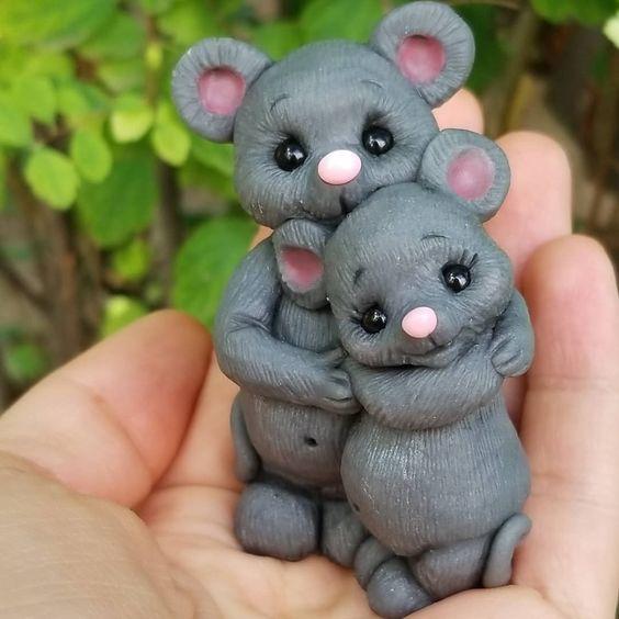 عروسک خمیری موش