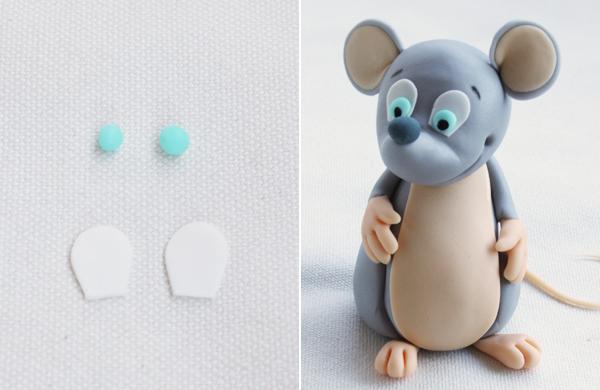 درست کردن چشم موش خمیری