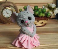 نمونه ساخت عروسک موش خمیری