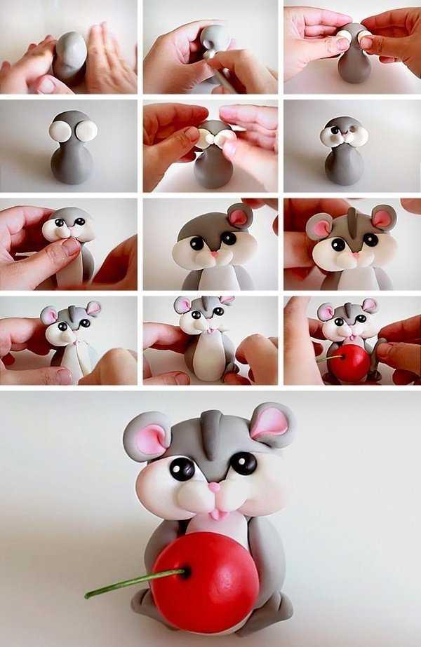 مراحل ساخت موش خمیری