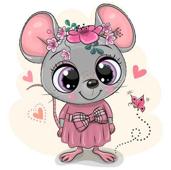 نقاشی فانتزی موش