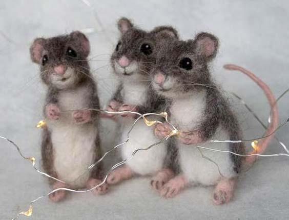 عروسک موش کچه کاری