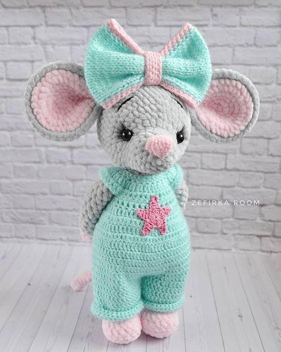 مدل عروسک موش کاموا مخملی