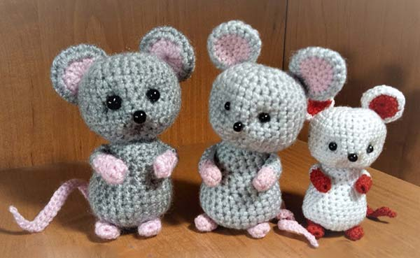 مدل عروسک موش بافتنی