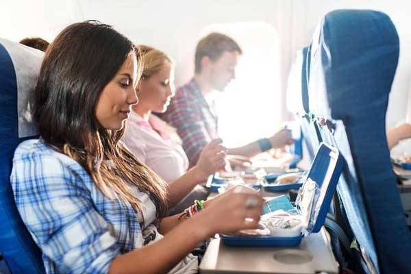 Eat candy when flying by plane