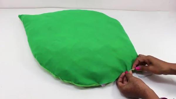 آموزش دوخت قالیچه پارچه ای برگ