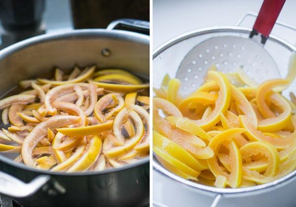 پختن پوست پرتقال