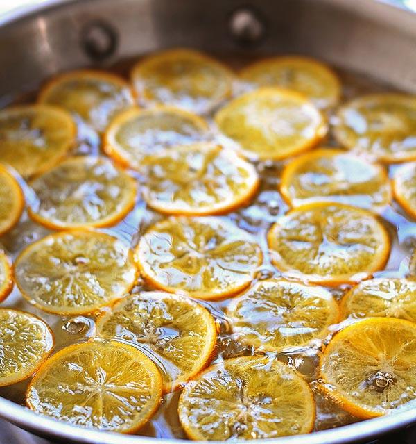 پختن برش حلقه ای پرتقال
