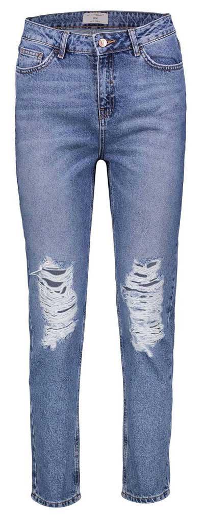 شلوار جین زانو زاپ دار زنانه