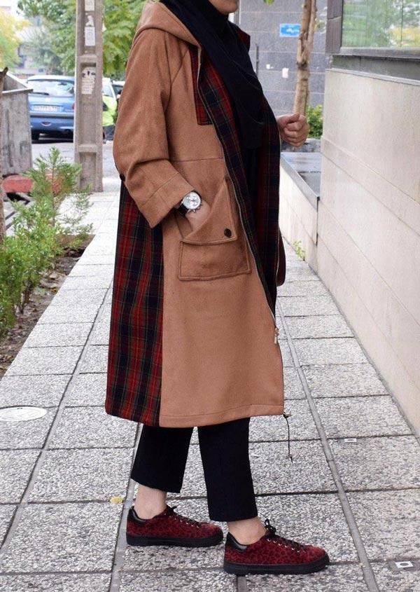 مدل مانتو پالتو زمستانه دانشجویی