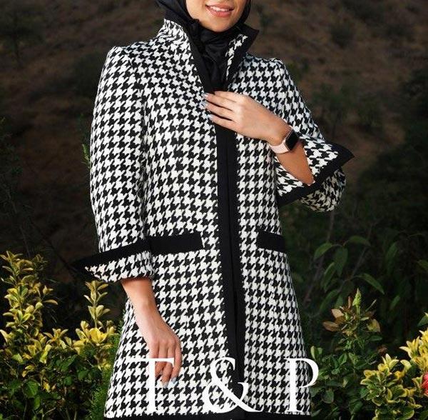 مدل مانتو پشم زمستانی چهارخانه