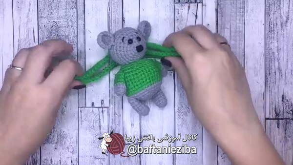 آموزش بافت عروسک موش قلاب بافی
